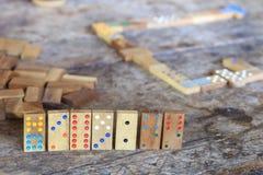 Παιχνίδι ντόμινο Στοκ Φωτογραφίες