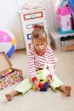 παιχνίδι παιδιών τούβλων Στοκ Φωτογραφίες