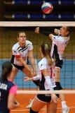 Παιχνίδι πετοσφαίρισης μεταξύ Kaposvar και Palota VSN στοκ φωτογραφίες