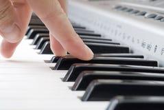 παιχνίδι πιάνων μουσικής Στοκ Εικόνα