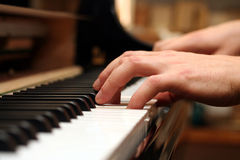 παιχνίδι πιάνων Στοκ εικόνα με δικαίωμα ελεύθερης χρήσης