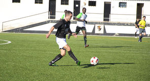 Παιχνίδι ποδοσφαίρου Στοκ Φωτογραφία