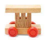 παιχνίδι σιδηροδρόμου αυτοκινήτων ξύλινο Στοκ εικόνα με δικαίωμα ελεύθερης χρήσης