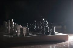 Παιχνίδι σκακιού Αφηρημένη σύνθεση των αριθμών σκακιού Στοκ φωτογραφία με δικαίωμα ελεύθερης χρήσης