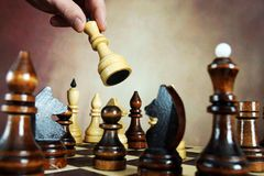 Παιχνίδι σκακιού λευκό κομματιών απεικόνισης σκακιερών σκακιού ανασκόπησης Στοκ εικόνες με δικαίωμα ελεύθερης χρήσης