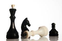 Παιχνίδι σκακιού που απομονώνεται στο άσπρο υπόβαθρο Στοκ Εικόνες
