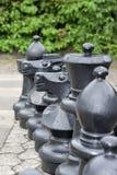 παιχνίδι σκακιού υπαίθρι&omic Στοκ Φωτογραφίες
