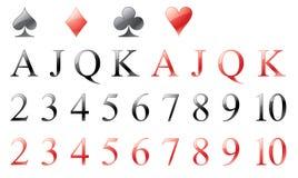 παιχνίδι στοιχείων καρτών Στοκ φωτογραφία με δικαίωμα ελεύθερης χρήσης