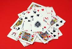 παιχνίδι σωρών καρτών Στοκ Εικόνα
