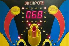 Παιχνίδι τζακ ποτ μεγάλων προσωπικοτήτων arcade Στοκ Φωτογραφίες