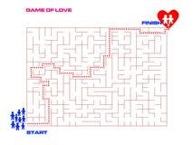 Παιχνίδι της έννοιας αγάπης για το βαλεντίνο Στοκ Εικόνες