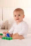 παιχνίδι τούβλων μωρών Στοκ εικόνες με δικαίωμα ελεύθερης χρήσης