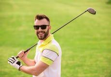 παιχνίδι τύπων γκολφ Στοκ Φωτογραφίες