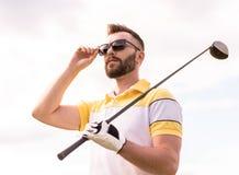 παιχνίδι τύπων γκολφ Στοκ Εικόνες