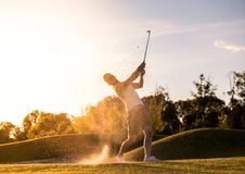 παιχνίδι τύπων γκολφ Στοκ Εικόνα