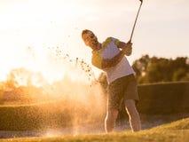 παιχνίδι τύπων γκολφ Στοκ Φωτογραφία