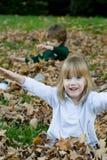 παιχνίδι φύλλων φθινοπώρου Στοκ Εικόνα