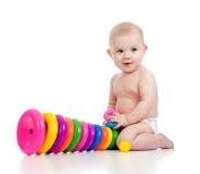 παιχνίδι χαμόγελου παιχνιδιού χρώματος μωρών Στοκ Εικόνες