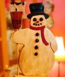 Παιχνίδι χιονανθρώπων για τα Χριστούγεννα Στοκ Εικόνες
