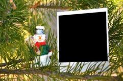 παιχνίδι χιονανθρώπων Χρισ&t Στοκ Φωτογραφίες