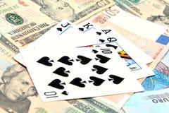 παιχνίδι χρημάτων καρτών Στοκ φωτογραφίες με δικαίωμα ελεύθερης χρήσης