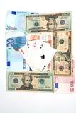 παιχνίδι χρημάτων καρτών Στοκ εικόνες με δικαίωμα ελεύθερης χρήσης