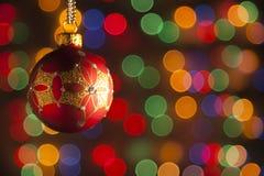 Παιχνίδι Χριστουγέννων ενάντια στοκ εικόνα