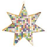 Παιχνίδι 7 χριστουγεννιάτικων δέντρων αστέρι ακτίνων που διακοσμείται με το τρισδιάστατο μωσαϊκό, που απομονώνεται ελεύθερη απεικόνιση δικαιώματος