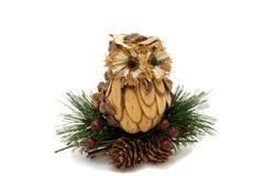 Παιχνίδι χριστουγεννιάτικων δέντρων κουκουβαγιών Στοκ Εικόνα