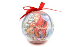 Παιχνίδι χριστουγεννιάτικων δέντρων σφαιρών Άγιου Βασίλη Στοκ Εικόνα