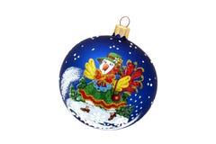 Παιχνίδι χριστουγεννιάτικων δέντρων σφαιρών κοτών Στοκ φωτογραφία με δικαίωμα ελεύθερης χρήσης