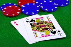 παιχνίδι 2 καρτών Στοκ φωτογραφία με δικαίωμα ελεύθερης χρήσης