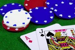 παιχνίδι 3 καρτών Στοκ εικόνα με δικαίωμα ελεύθερης χρήσης
