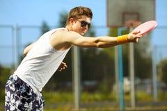 παιχνίδι frisbee Στοκ Εικόνες