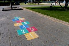 Παιχνίδι Hopscotch Στοκ φωτογραφία με δικαίωμα ελεύθερης χρήσης