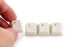 παιχνίδι on-line Στοκ Φωτογραφίες