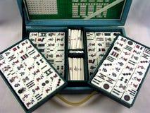 Παιχνίδι Mahjongg σε περίπτωση που στοκ εικόνες