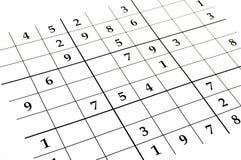 Παιχνίδι Sudoku στοκ εικόνες