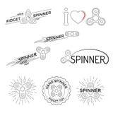 Παιχνίδια κλωστών χεριών λογότυπων Στοκ Εικόνες