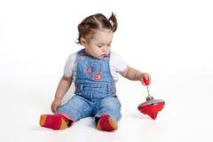 Παιχνίδια μωρών ενός έτους βρεφών Στοκ εικόνες με δικαίωμα ελεύθερης χρήσης