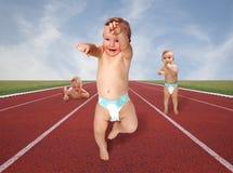 Παιχνίδια 3 μωρών Στοκ Εικόνες
