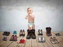 Παιχνίδια 2 μωρών Στοκ Εικόνα