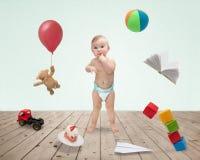 Παιχνίδια 13 μωρών Στοκ Φωτογραφία