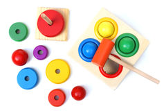 παιχνίδια ξύλινα Στοκ Εικόνες