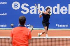 Παιχνίδια του Pablo Andujar (ισπανικός τενίστας) στο ATP Βαρκελώνη Στοκ φωτογραφία με δικαίωμα ελεύθερης χρήσης