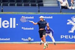 Παιχνίδια του Pablo Andujar (ισπανικός τενίστας) στο ATP Βαρκελώνη Στοκ φωτογραφίες με δικαίωμα ελεύθερης χρήσης