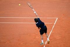 Παιχνίδια του Pablo Andujar (ισπανικός τενίστας) στο ATP Βαρκελώνη Στοκ εικόνες με δικαίωμα ελεύθερης χρήσης