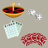 Παιχνίδια χαρτοπαικτικών λεσχών παιχνιδιού Στοκ Εικόνες