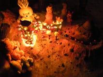 Παιχνίδια χειμερινών Χριστουγέννων για τα παιδιά στοκ φωτογραφία