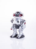 παιχνίδι ή ρομπότ παιχνιδιών στο υπόβαθρο Στοκ Φωτογραφία